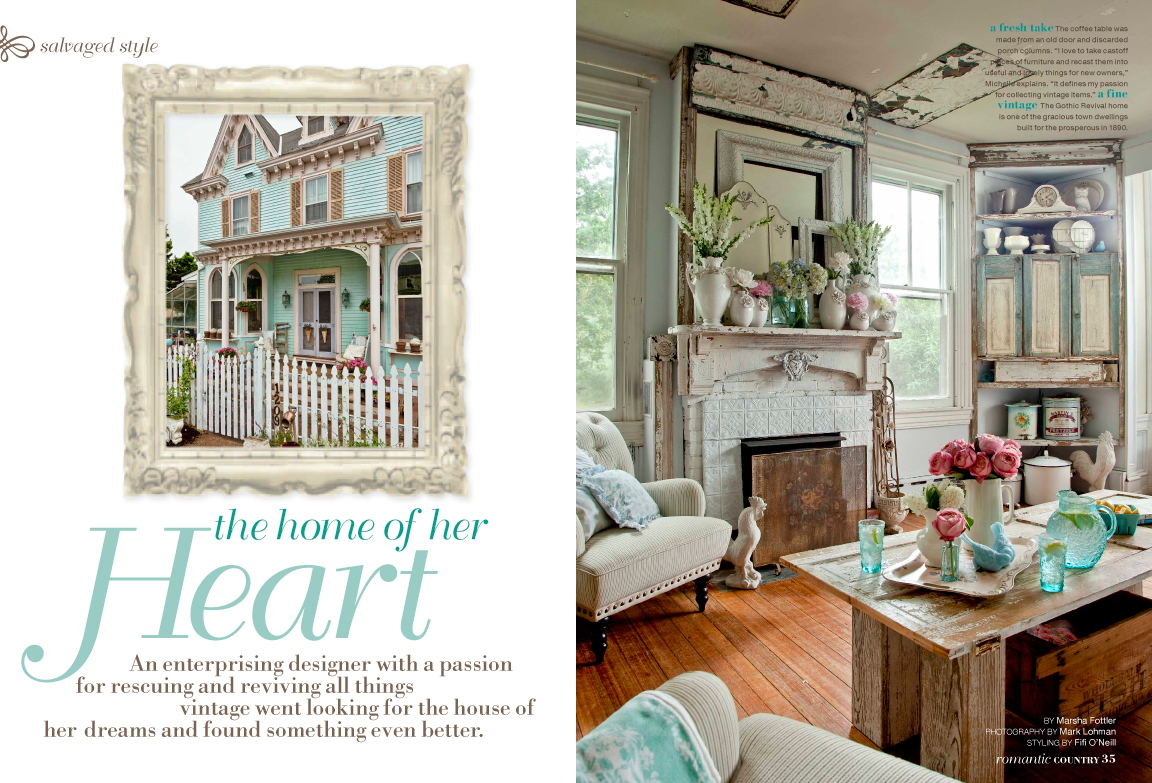 Romantic country magazine for Home decor styles