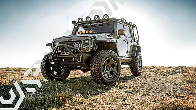 Kilroy Rugged Ridges Military Themed Jeep
