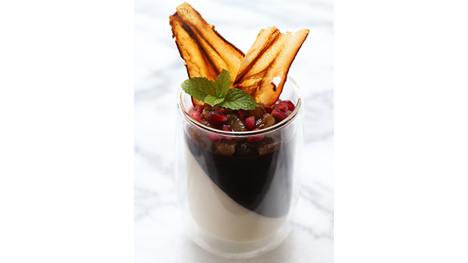 Chai Panna Cotta with Pomegranate Gelee holiday recipes