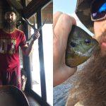 Brent Burns San Jose Sharks NHL Outdoors fishing