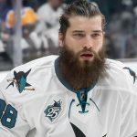 Brent Burns San Jose Sharks NHL Outdoors ice