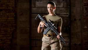 Lauren Young Army Veterans Ballistic U.S. gear