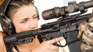 Lauren Young Army Veterans Ballistic scope