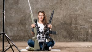 Lauren Young Army Veterans Ballistic photo shoot