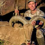 Hunting Aoudad Sheep Browning X-Bolt Hell's Canyon Speed Rifle kill