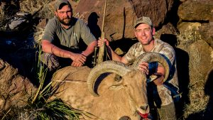 Hunting Aoudad Sheep Browning X-Bolt Hell's Canyon Speed Rifle lead