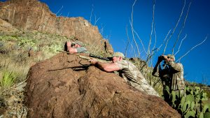 Hunting Aoudad Sheep Browning X-Bolt Hell's Canyon Speed Rifle optics