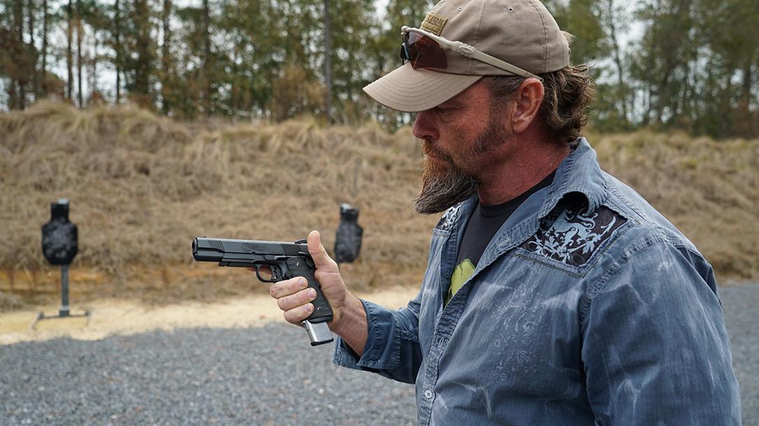 Pat McNamara Carolina Arms Group Blaze Ops 1911 Pistol inspect