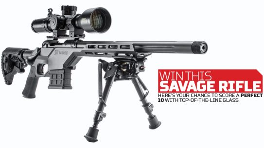 Win a Savage Mod 10 BA Stealth Rifle and a Bushnell Tactical DMR II 3.5-21x50mm Scope