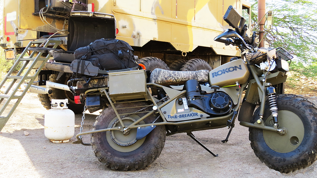 Rokon Motorcycle bug-out