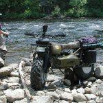 Rokon Motorcycle fishing