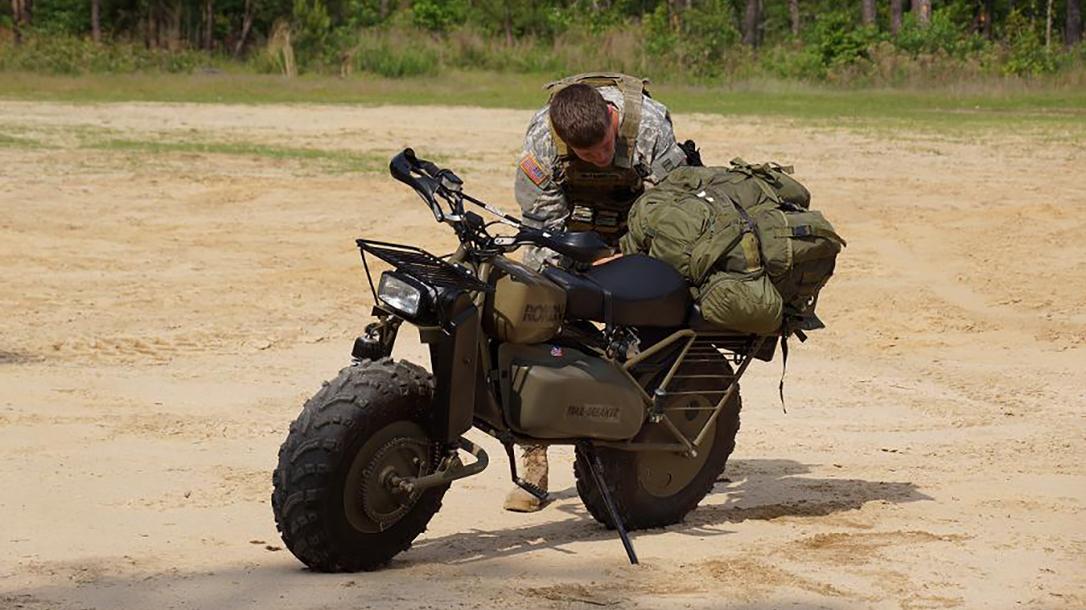 Rokon Motorcycle trailer breaker loaded up