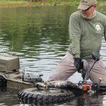 Rokon Motorcycle in water