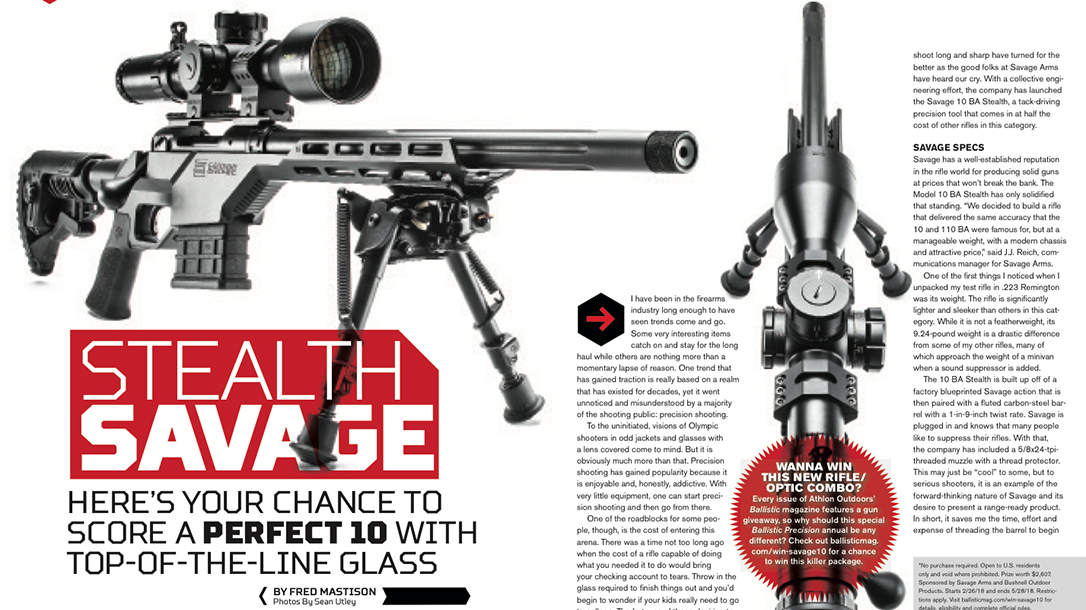 Ballistic Precision Savage Bushnell sweepstakes story