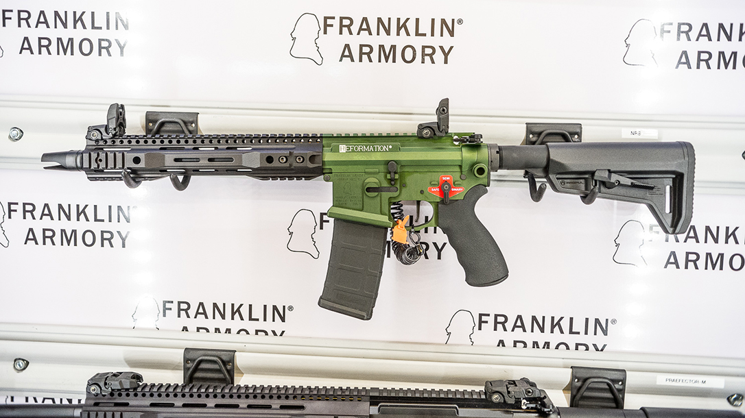 SHOT Show 2018 Franklin Armory Reformation NRS Firearm display