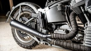 Harley WLA 1951 Panhead Repro Bravo Company Paul Buffoni exhaust
