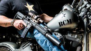Harley WLA 1951 Panhead Repro Bravo Company Paul Buffoni rifle