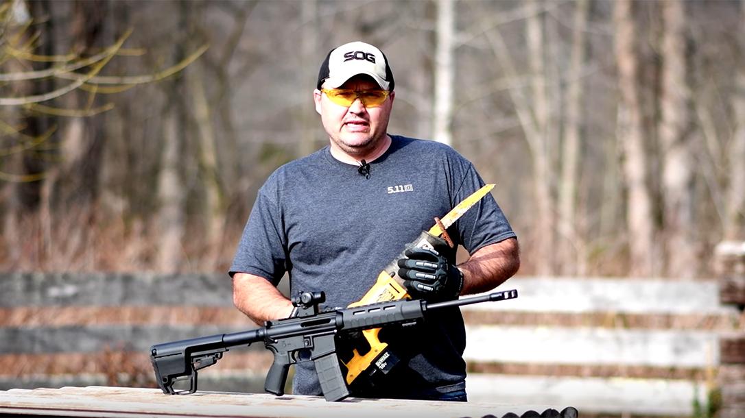 Gun Control Advocates AR-15 Buffalo's Outdoors