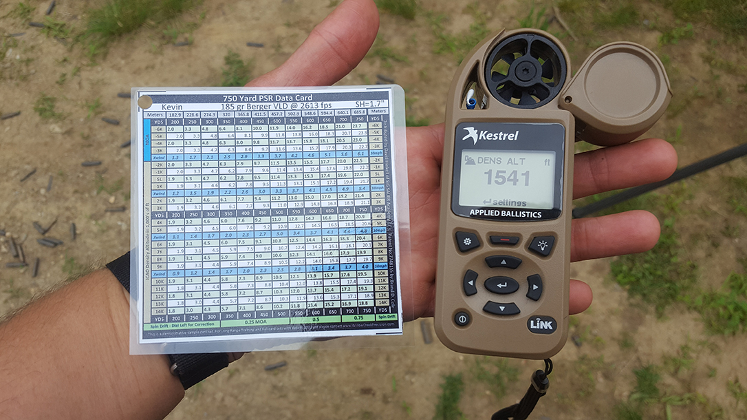 Long-Range Shooting, Kestrel weather meter