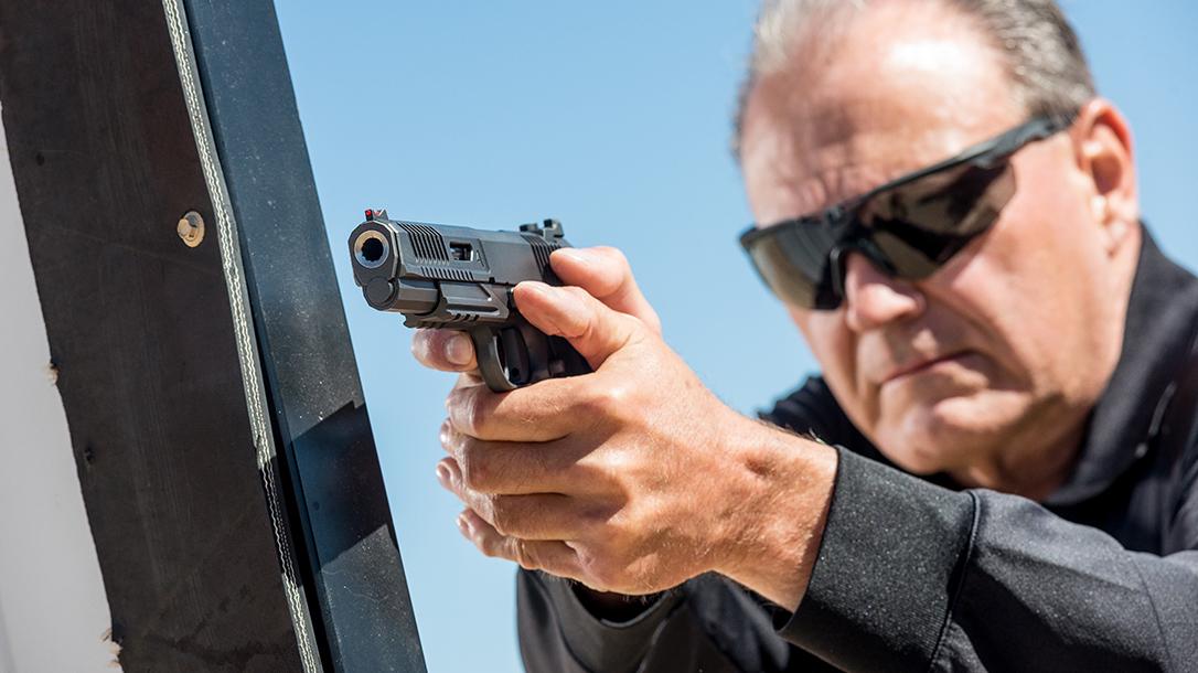 Nighthawk Agent 2 pistol, Agency Arms, aim