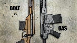 Bolt Rifle vs Semi-Auto Rifle, rifle comparison, lead