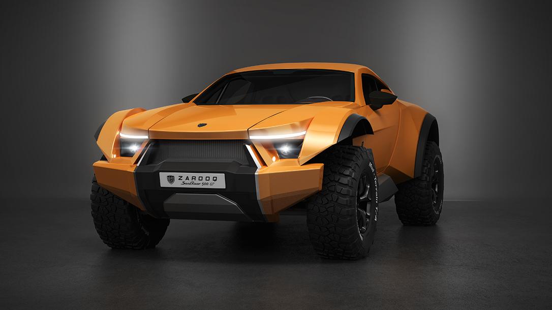 Zarooq SandRacer 500 GT, Zarooq Motors, supercar, dune buggy, front