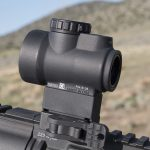 Trijicon MRO Green Dot, Mini Rifle Optic, green dot sight, left