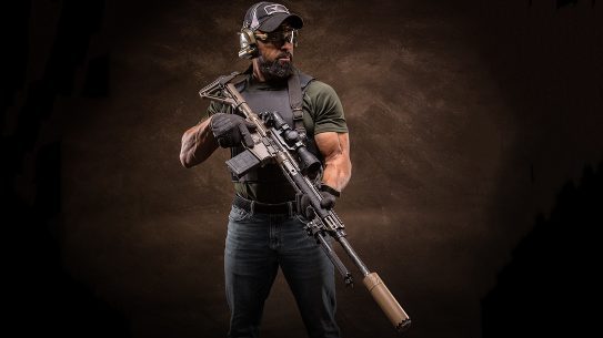 Modern Outfitters MC7 Rifle, gun test, Buck Doyle, posing