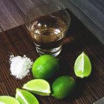 Tequila shots, tequila salt, tequila limes