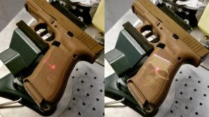 Laser Engraved Glock 19X pistol, skull engraving