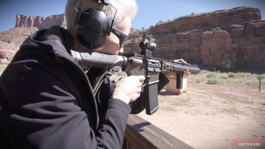 Daniel Defense DDM4ISR rifle, integrally suppressed rifle, 300 blackout, gun test