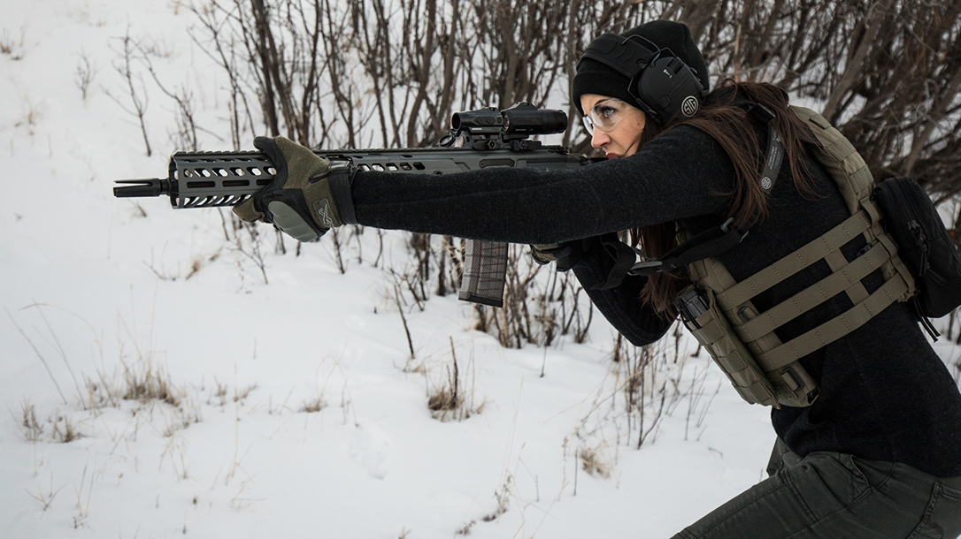 High Bar Homestead Wyoming, Lauren Young, Sig Sauer rifle