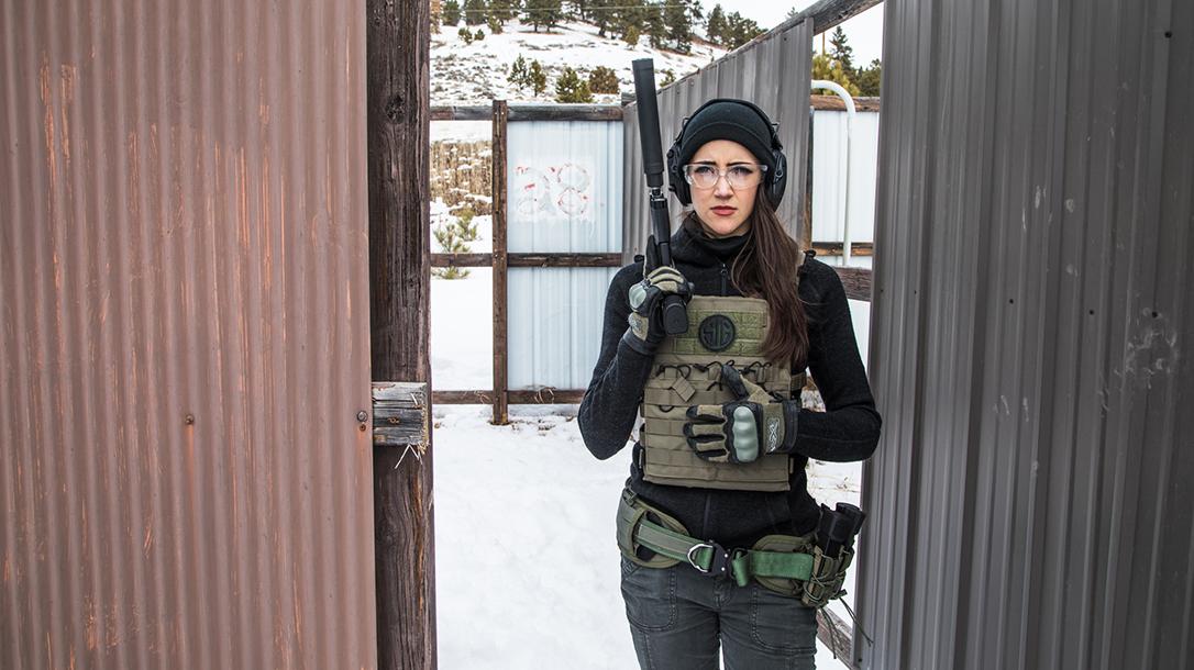 High Bar Homestead Wyoming, Lauren Young, Sig sauer pistol, suppressor