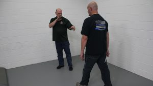 Pistol Whip Technique, self-defense, Step 1