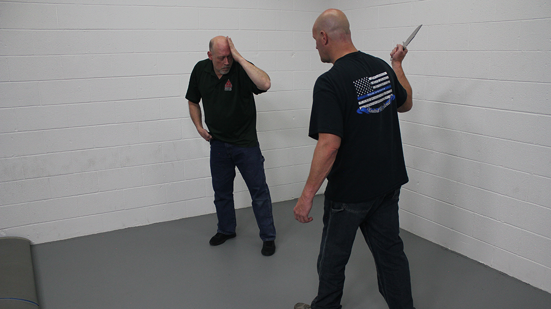 Pistol Whip Technique, self-defense, Step 2