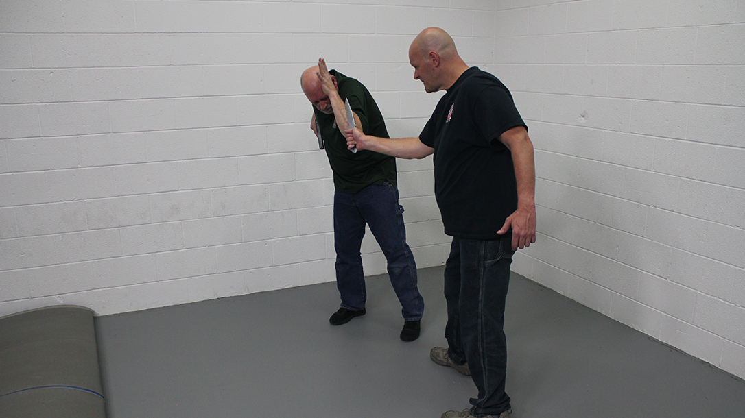 Pistol Whip Technique, self-defense, Step 3