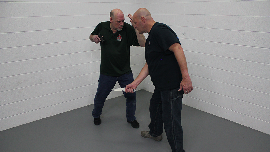 Pistol Whip Technique, self-defense, Step 4