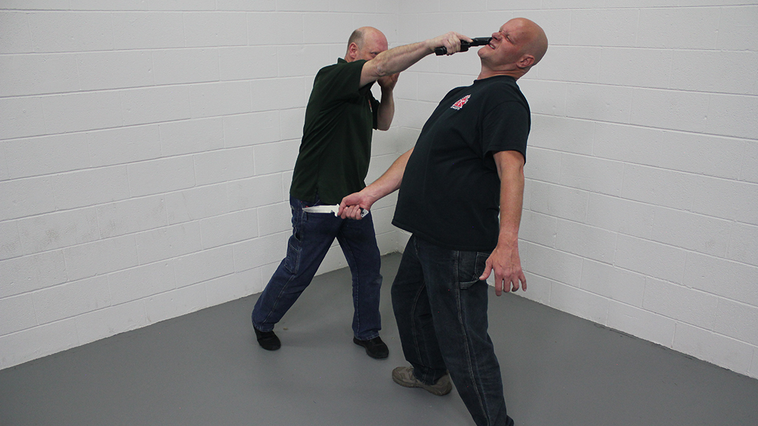 Pistol Whip Technique, self-defense, Step 5