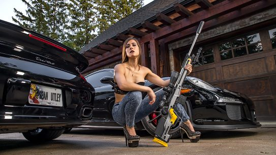 Kimberly Marie, Porsche 911 Car, Surgeon Rifles, 6mm Creedmoor Rifle