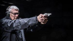 North American Arms Ranger II Revolver, pistol, aiming