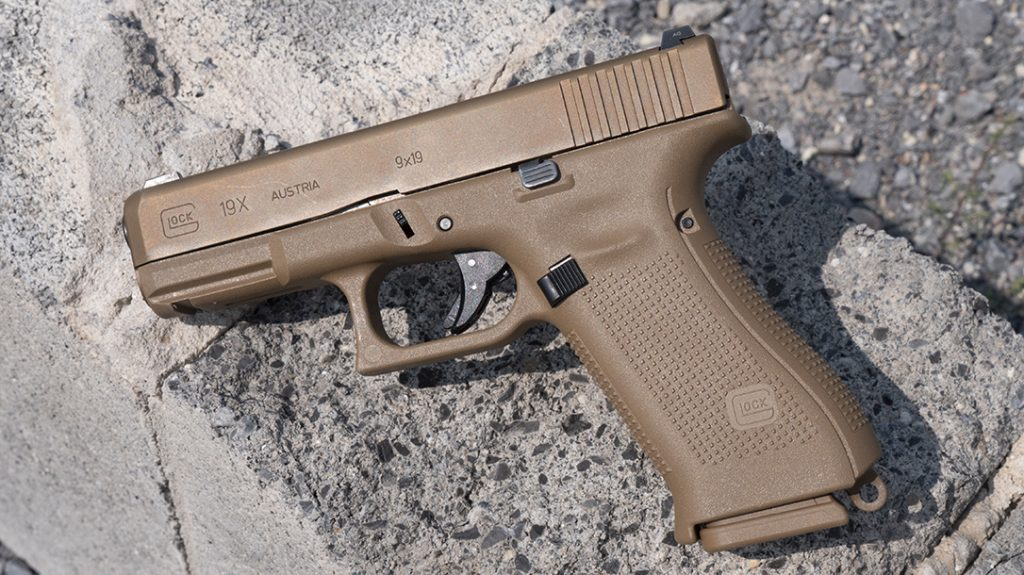 Glock 19X pistol, Glock haters, left profile