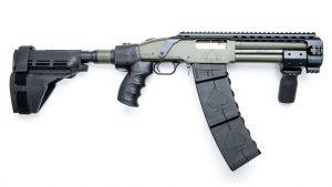 Black Aces Tactical DT Shotgun, 12-gauge shotgun, profile right