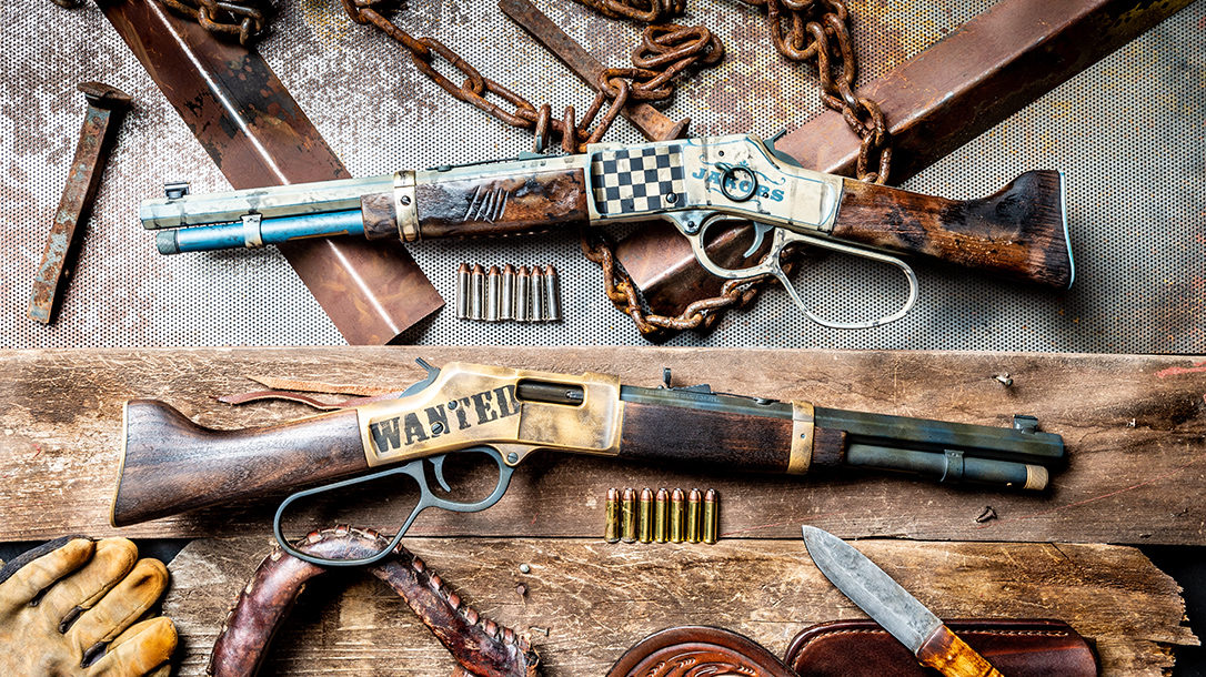 Henry Mare's Leg Rifles, .357 Magnum Mare's Leg, MAD Custom Coating, Blown Deadline Cerakote