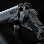 MOTH3R 12-Gauge DX-12 Double Barrel Shotgun Pistol, Ivan Santic, empty