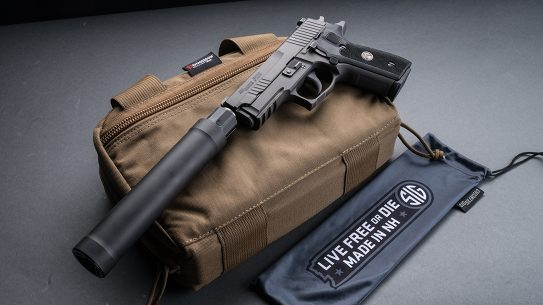 SIG P229 Legion Pistol, SRD9 Suppressor, pistol review, left