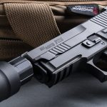 SIG P229 Legion Pistol, SRD9 Suppressor, pistol review, logo