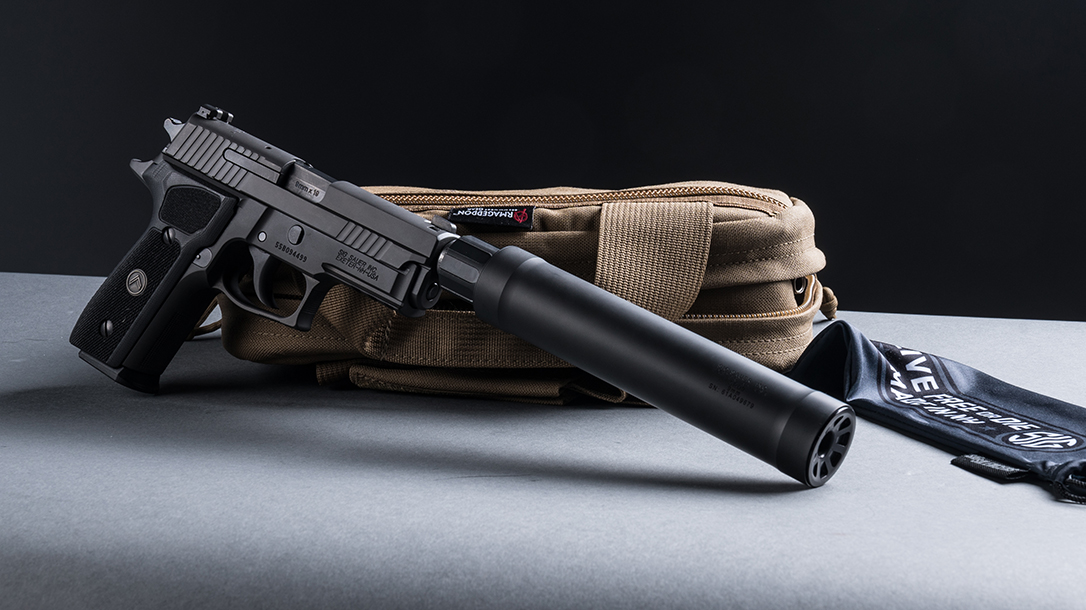 SIG P229 Legion Pistol, SRD9 Suppressor, pistol review, right