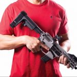 CMMG RipBrace Retractable AR Pistol Brace, SB Tactical, collapsed