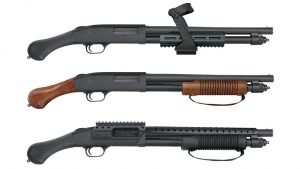 Mossberg 590 Shockwave series, 590 Nightstick, 590 Shock 'N' Saw, 590 Shockwave SPX