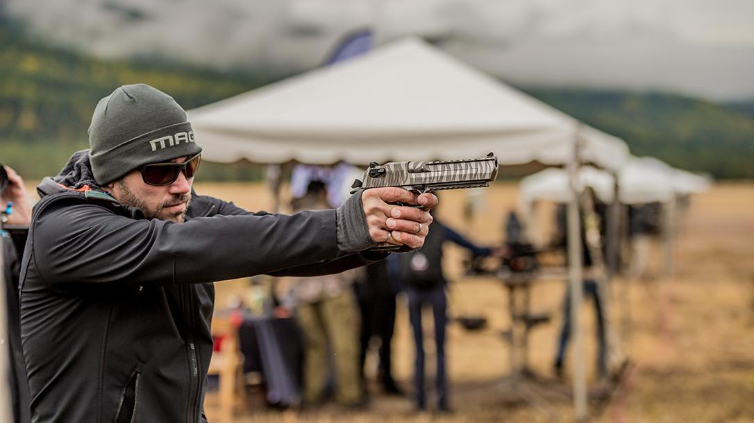 Magnum Research White Tiger Desert Eagle, gun test, range